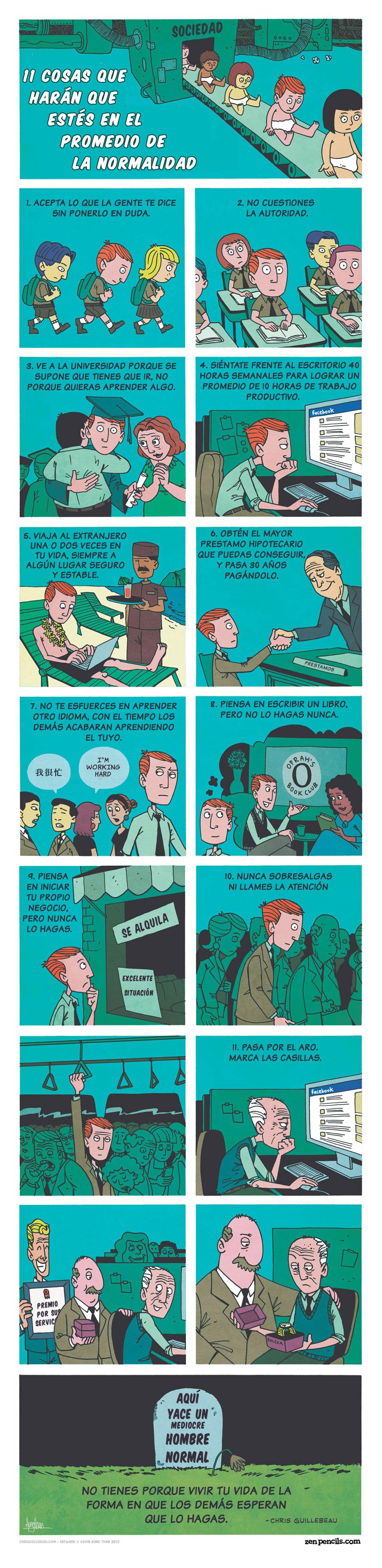 11 cosas que harán que estes en el promedio de la normalidad