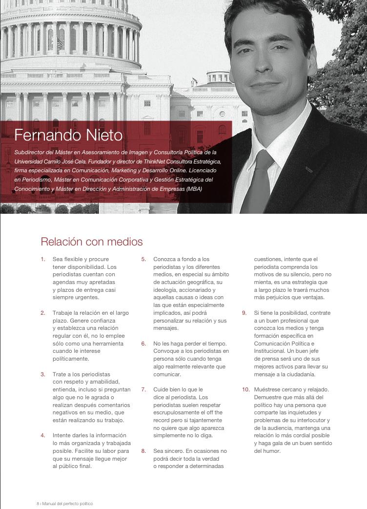 Manual del Perfecto Político Fernando Nieto