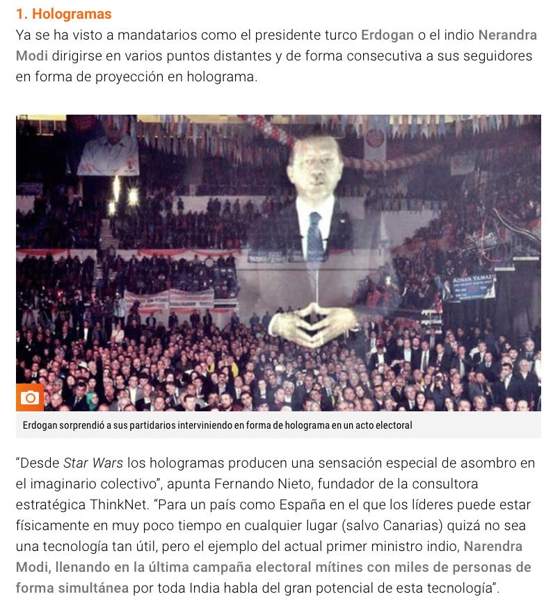 hologramas en campaña electoral reportaje RTVE.es