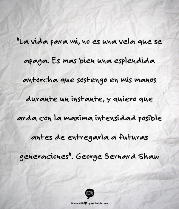 la vida Bernard Shaw